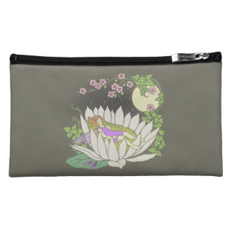 Sleeping Flower Fairy Moonlight Stars Makeup Bag