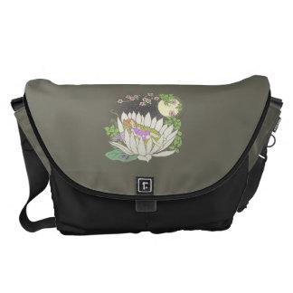Sleeping Flower Fairy Moonlight Stars Messenger Bag