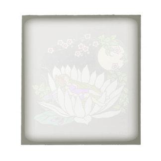 Sleeping Flower Fairy Moonlight Stars Notepad