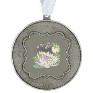 Sleeping Flower Fairy Moonlight Stars Ornament