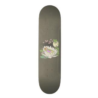Sleeping Flower Fairy Moonlight Stars Skateboard
