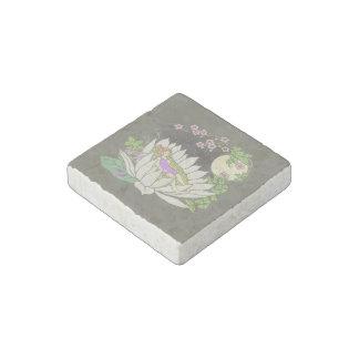 Sleeping Flower Fairy Moonlight Stars Stone Magnet