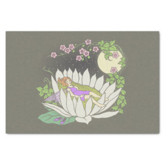 Sleeping Flower Fairy Moonlight Stars Tissue Paper