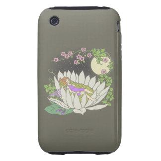 Sleeping Flower Fairy Moonlight Stars Tough iPhone 3 Covers