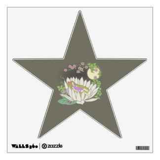 Sleeping Flower Fairy Moonlight Stars Wall Decal