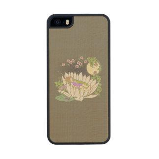 Sleeping Flower Fairy Moonlight Stars Wood Phone Case For iPhone SE/5/5s