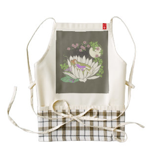 Sleeping Flower Fairy Moonlight Stars Zazzle HEART Apron