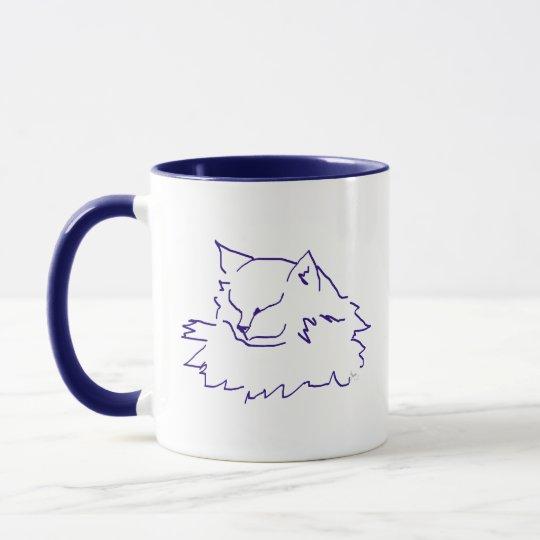 Sleeping Fluffy Cat Mug