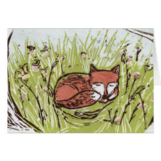 Sleeping Fox Notecards Stationery Note Card