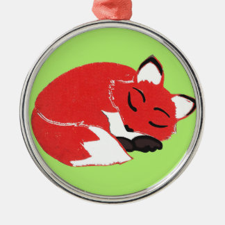 Sleeping Fox Premium Round Ornament