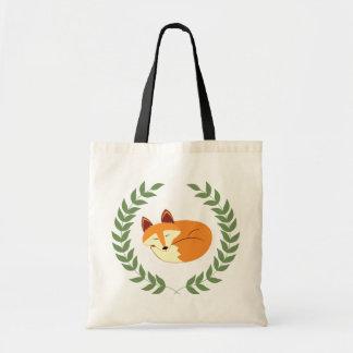 Sleeping Fox with Laurel Wreath Tote Bag