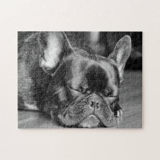 Sleeping French Bulldog Jigsaw Puzzle