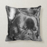 Sleeping French Bulldog Throw Pillow at Zazzle