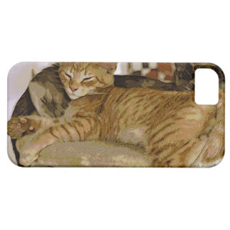 Sleeping Ginger Tabby Cat Kitten Phone Case