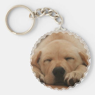 Sleeping Golden Retriever Keychain
