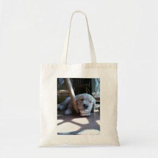 Sleeping Golden Retriever Puppy Canvas Bag