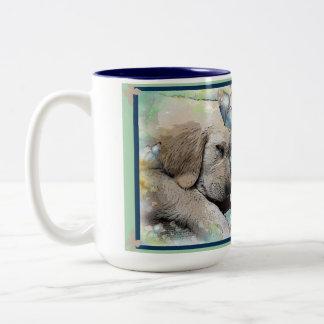 Sleeping Golden Two-Tone Coffee Mug