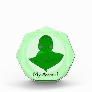 Sleeping Green Turtle Acrylic Award