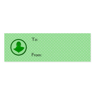 Sleeping Green Turtle Frilly Frame With Dots Business Card Templates