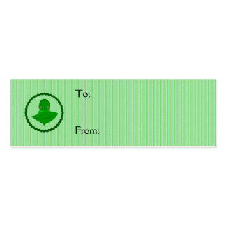 Sleeping Green Turtle Frilly Frame With Stripes Business Card Template