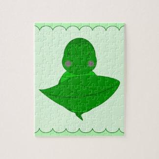 Sleeping Green Turtle Jigsaw Puzzle