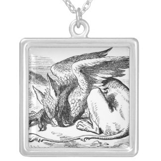 Sleeping Griffin Personalized Necklace