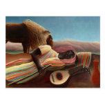 Sleeping Gypsy by Henri Rousseau Post Cards