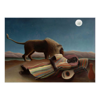Sleeping Gypsy by Rousseau Poster