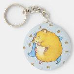Sleeping Hamster Ted Keychain