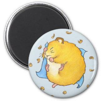 Sleeping Hamster Ted Fridge Magnets