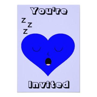 Sleeping Heart Face Card