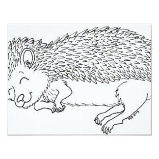 Sleeping Hedgehog Invite card