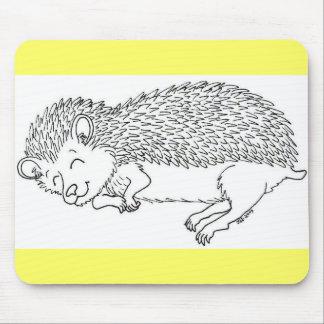 Sleeping Hedgehog Mouse Pad