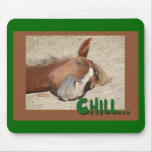 Sleeping  Horse Smile: Chill Mouse Pad