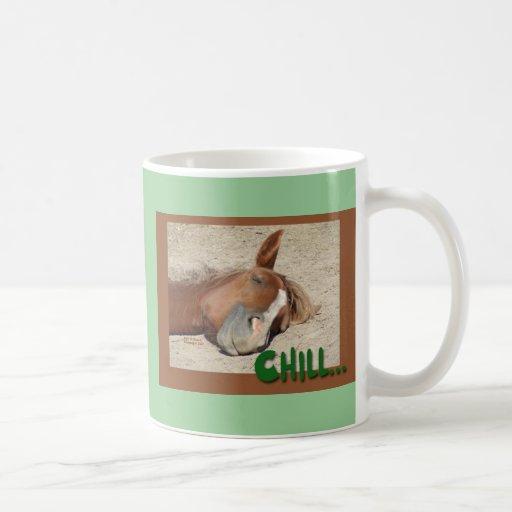 Sleeping  Horse Smile: Chill Classic White Coffee Mug