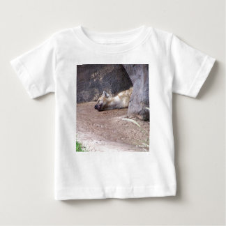 Sleeping Hyena head lying on clay ground picture Baby T-Shirt