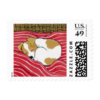 Sleeping Jack Russell Puppy Dog kind pos days Postage