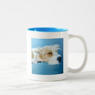 Sleeping Jack Russell Terrier Dog Art Mug