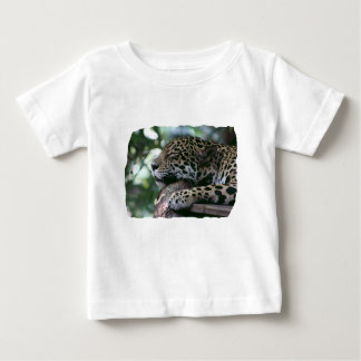 Sleeping jaguar with leafy background baby T-Shirt