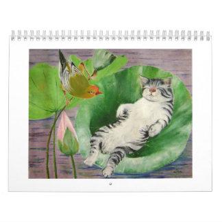 sleeping kitten calendar