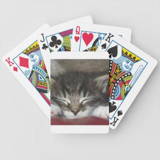 Sleeping Kitten Cat Playing Cards