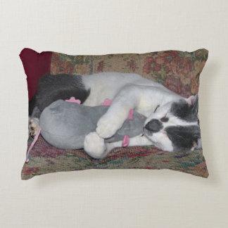 Sleeping Kitten Decorative Pillow