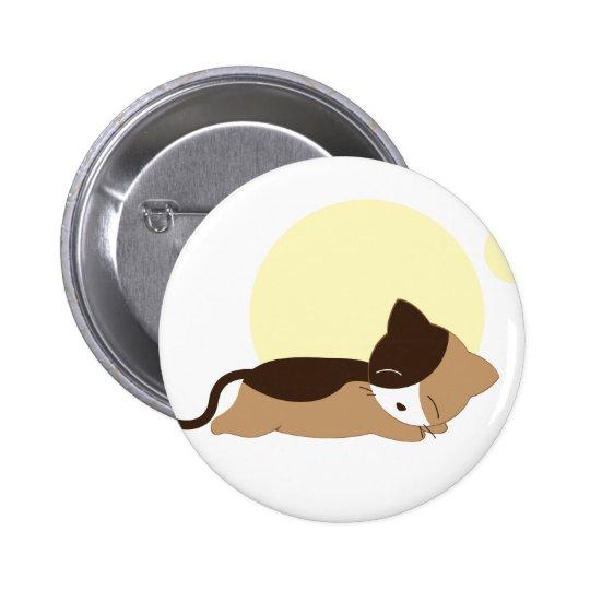 Sleeping Kitten Pinback Button