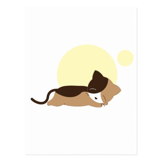 Sleeping Kitten Postcard
