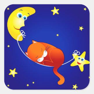 Sleeping kitten, sticker