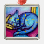 Sleeping Kitty Cat  Christmas Ornament
