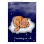 Sleeping Kitty Greeting Cards