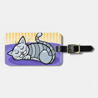 Sleeping Kitty Luggage Tag