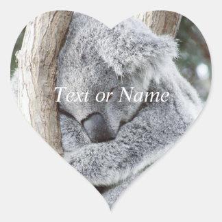 sleeping koala baby heart sticker