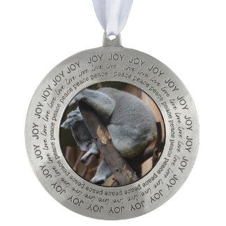 Sleeping Koala Bear Round Ornament